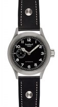 hanhart pioneer preventor9 horloge zwart zwarte band